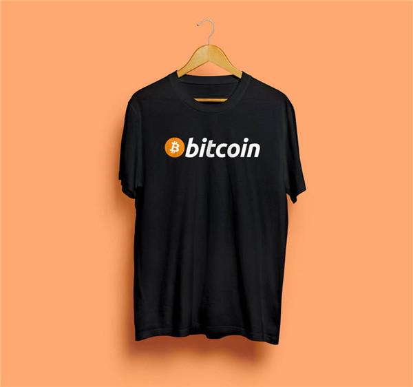 Punk Tops Tripulação Curto Bitcoin Presente Camisas Dos Homens