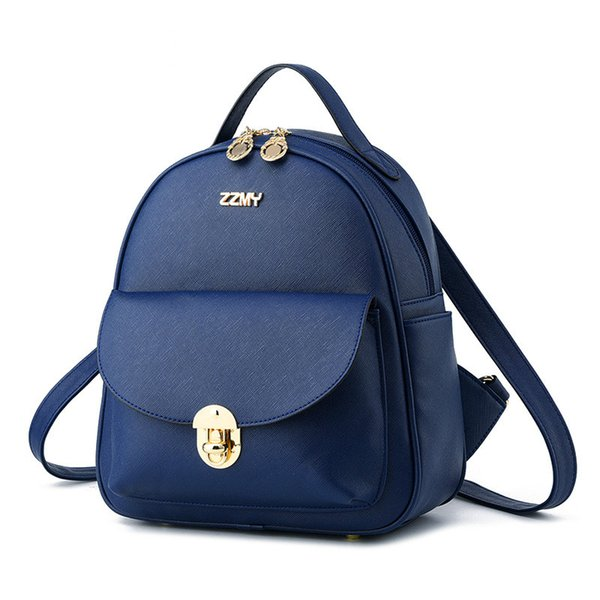2019 Fashion designer backpack wave female backpack spring and summer new student fashion stitching Korean version of the female bag