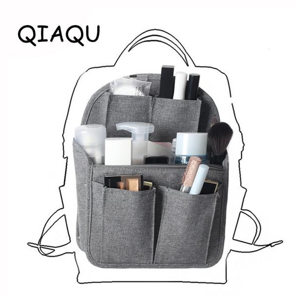 fodera del sacchetto dell'organizzatore di inserimento in Borsa Compartimento di smistamento di viaggio immagazzinamento nella borsa di finitura accessori divisore Portable