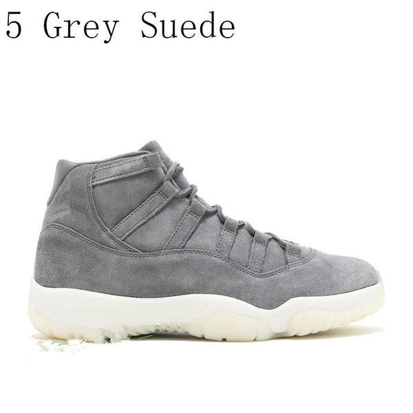 5 de gamuza gris