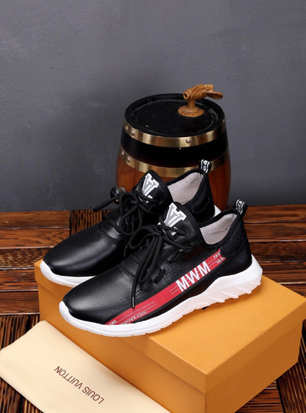 2019w leather men's casual shoes, wild fashion sports shoes, DHL delivery full original packaging, yards 38-45