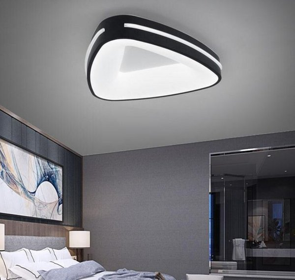 Circular modern led ceiling lights for living room bedroom study room white or black 95-265V square ceiling lamp with remote control MYY