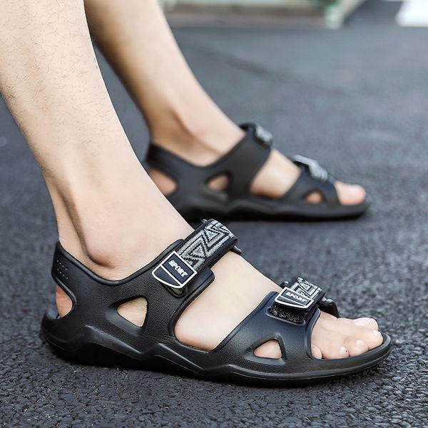 2019 zapatos para hombre en la playa, calza, sandalias de playa para mujer, para plataforma plana masculina, sandalias casuales, tamaño 40-45
