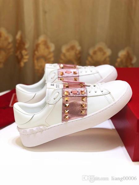 Designer de luxo homens e mulheres sapatos esportivos sapatos casuais baixa ajuda marca italiana rebite graffiti sapatos casuais caminhadas treinamento em arena esportiva