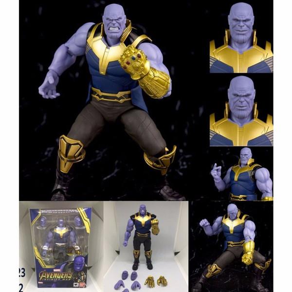 Film Avengers Infinity War 3 SHFiguarts Thanos Figurines PVC Doll jouets pour Noël cadeau d'anniversaire
