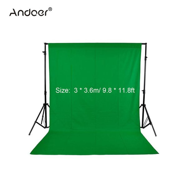 tudio backdrop Andoer 3 * 3.6m/ 9.8 * 11.8ft Nonwoven Fabric Photography Background Studio Backdrop Black/Green/White(Optional,Only one p...