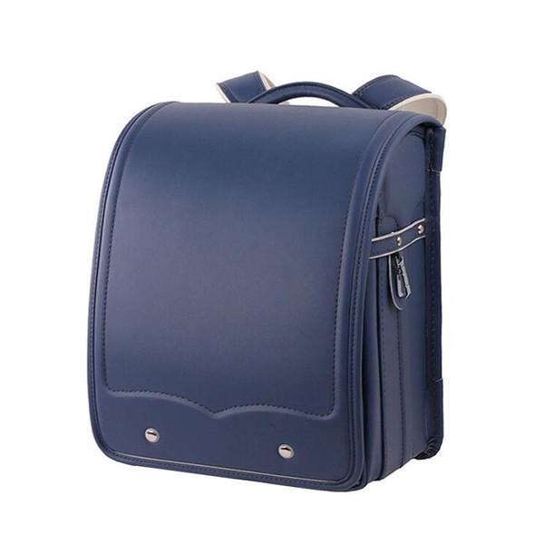 NEW Children Orthopedic school bag solid PU leather Backpack For Girl Metal buckle adjustable shoulder strap kid's Book Bags