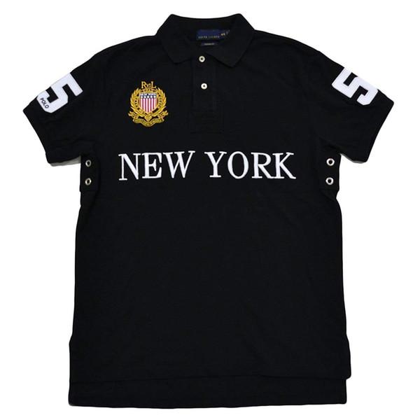 US size PoloShirt City Custom Fit Miami New York Chicago Los Angeles Dubai polo shirt men Cheap High Quality Free Shipping