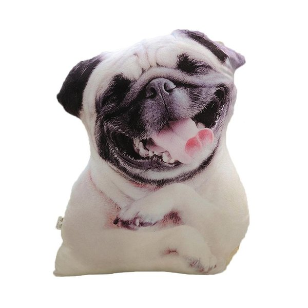 3D Simulation Hundekissen Shapi Dalmatian Husky Plüschkissen Office Napping Home Praktisches waschbares Kissen