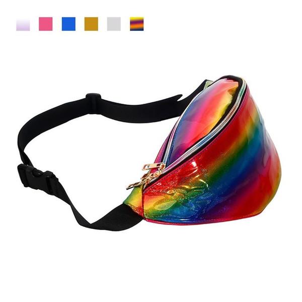 rainbow waist bag