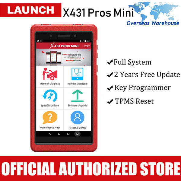 Original Launch X431 Pros Mini Automotive Diagnostic Tool Full System Diagnostics Car Scanner Autoscanner ECU Coding Auto Scan