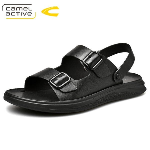 Camel Active 2019 New High Quality Summer Men Sandals Genuine Leather Comfortable Buckle Strap Men Shoes Fashion Casual Shoes