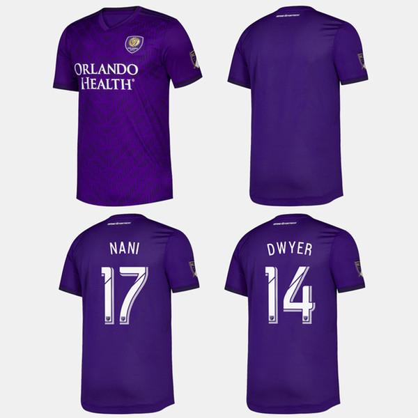 Clube MLS 2020 Orlando City home Camisolas de Futebol 19 20 # 10 COLMAN # 8 Camisa de Futebol J. MENDEZ DWYER NANI Uniforme de Futebol