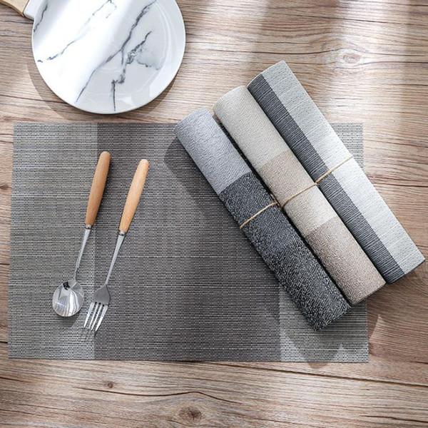 Oneup 4pcs / lot Europa Platzdeckchen wasserdichte Dekoration für Tisch-Matte Anti-Rutsch-Hitzebeständige Placemats Teller Geschirr Tablemat