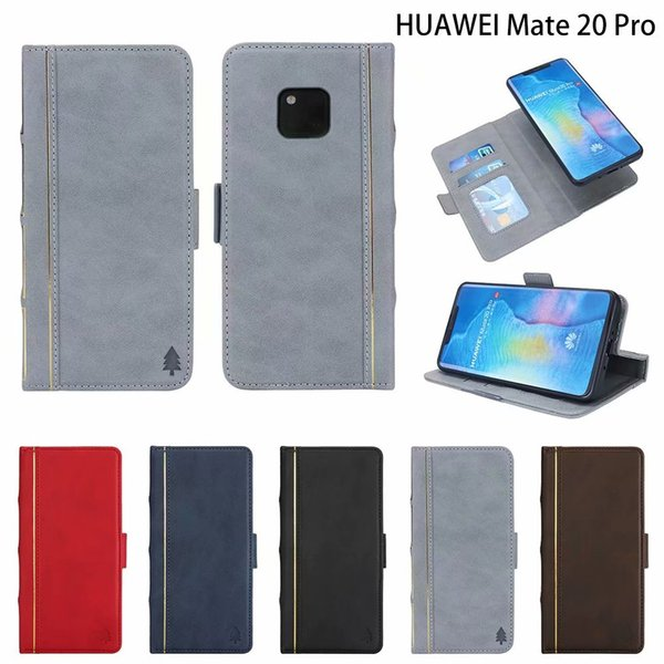 Book Style Leather Wallet Case For Huawei Mate 20 Lite 20 Pro Removable Detachable Retro Vintage Old 2 in 1 Flip Cover Magnetic Phone Pouch
