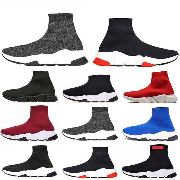 yeh Zapatos de calcetines Zapatillas informales Zapatillas de deporte de alta calidad Zapatillas de deporte de alta calidad Zapatillas de deporte Calcetín de moda de lujo para hombre para mujer diseñador sandalias zapatos