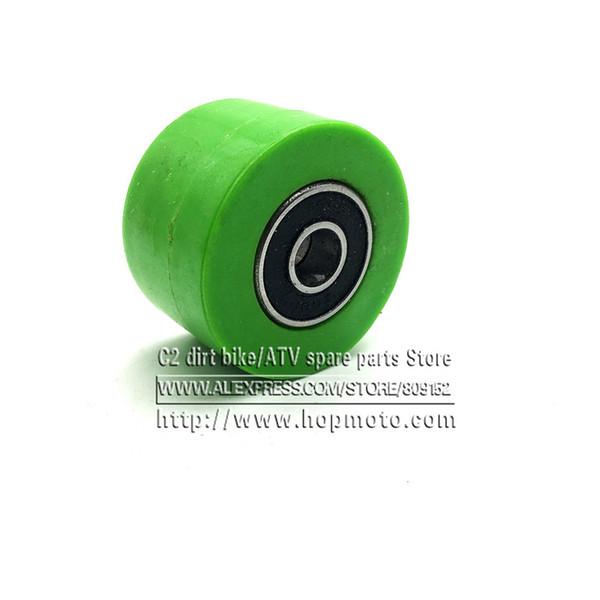 M8 8mm подшипник привода цепи Шкив ролика Slider Натяжной колеса Руководство для Pit Dirt Street велосипед мотоцикл Atv CRF зеленый цвет