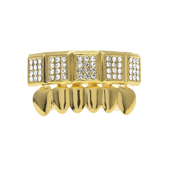 Fashion Design Mens Dental Grills Accessories Gold Plated Teeth Party Gift Women Rose Grillz Luxury Golden Tooth Jewelry