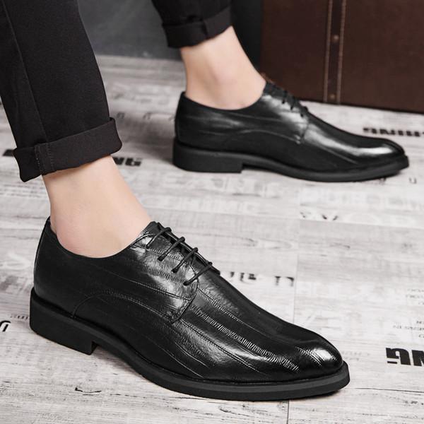 bajo precio 9a5d1 c8f34 Compre Zapatos De Vestir Para Hombres Con Cordones Zapatos De Calidad  Oxford Para Hombre Zapatos Con Cordones Marca De Negocios Formal Banquete  De ...