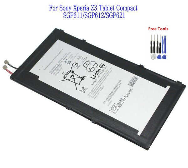 best selling 1x 4500mAh LIS1569ERPC Replacement Battery For Sony Xperia Tablet Z3 Compact SGP611 SGP612 SGP621 + Repair Tools kit