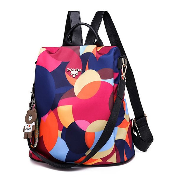 New High Quality Oxford Cloth Fashion Casual Backpack For Girl Anti-Theft Multifunction Outdoor Ipad Bag