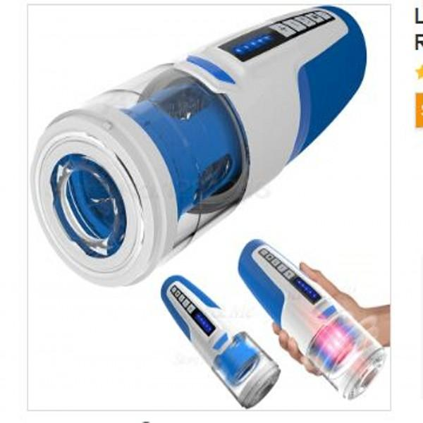 Leten Masturbatore maschile elettrico Rotazione telescopica automatica Pistone succhia vibratore Macchina del sesso vocale reale Giocattolo del sesso orale per uomini DHL65 gratuito