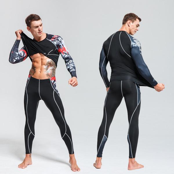 28df8164e2334 Nueva ropa interior térmica para hombres Capa base Chándal Cálido Calzado  de deportes de invierno para