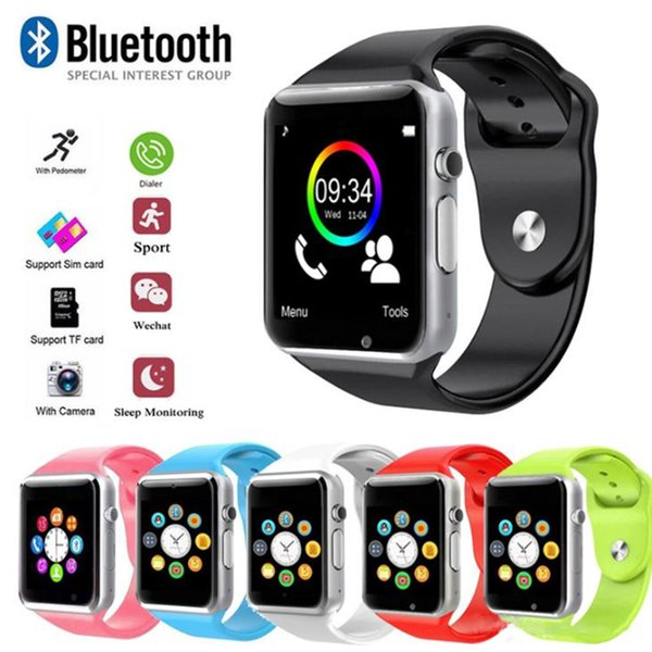 Smart wearable device A1 smart watch Bluetooth touch screen sports health tracker watch for IOS Android mobile phone