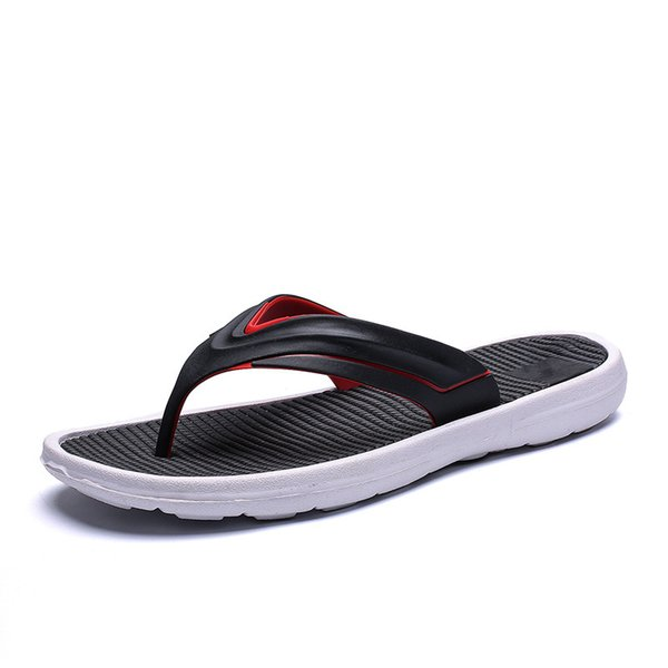 Men Beach Flip Flops 2019 Summer Flat Shoes Comfortable Sole Slip-on Male Fashion Sandals Men Casual Flip Flop Slippers SH022807