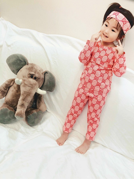 fenash7 Two Piece Outfits In Child spring and autumn Male Girl homewear Color Fashion Suit Children Kids Clothing Set Clothes 0818