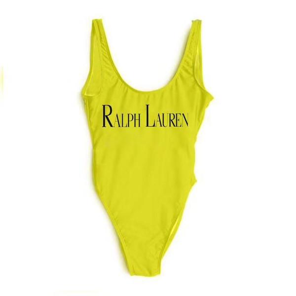 RL Fashion design Big Letter Logo sexy Print Swimsuit для женщин купальники бикини набор женщина ночной клуб Леди пляж купальные костюмы одежда