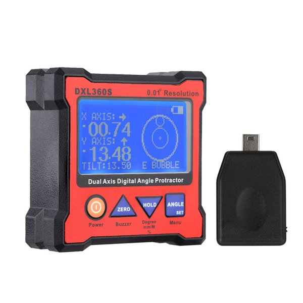 best selling DXL360S Dual Axis Digital Angle Protractor with 5 Side Magnetic Base High-precision Dual-axis Digital Display Level Gauge Levels