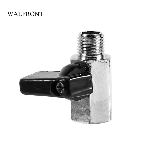 """best selling 10pcs Mini Ball Valve 1 4"""" BSP Female Male Air Compressor Valves Brass Chrome Plated Water Fuel Control Tools Hose Ball Valve"""