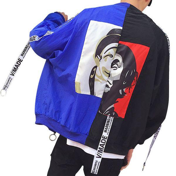 Spring Autumn Bomber Jacket Women Men Tops Long Sleeve Basic Coat Casual Thin Outerwear Korean Hip Hop Bomber Jacket