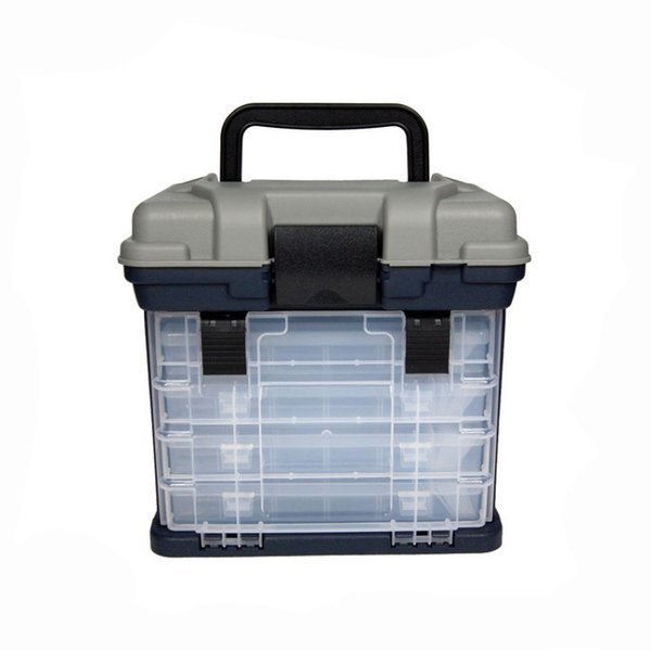1 pcs 26*16*26cm 4 layer pp+abs fishing tackle box plastic handle fishing box tools storage thumbnail