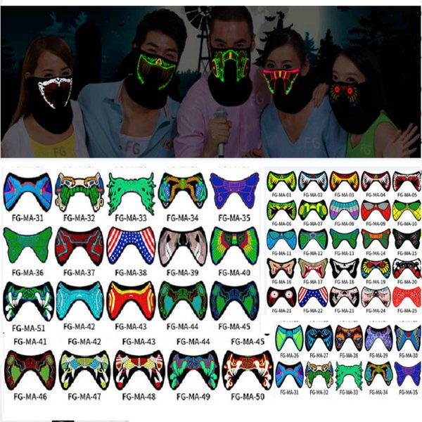 Halloween LED Light Cosplay Luminous Glowing Mask Party Decor Prop Multi Type
