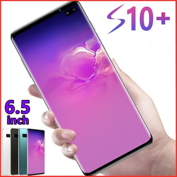 best selling 2019 Latest Generation 6.5 Inch S10+ Infinity Display 4G LTE Smartphone (6GB+128GB) -Face and Fingerprint Unlock 10 Cores Cellphone