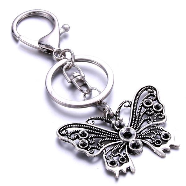 Kişiselleştirilmiş kelebek şekli anahtarlık el yapımı paslanmaz çelik hediye özel özel severler arkadaşlar için çeşitli stilleri