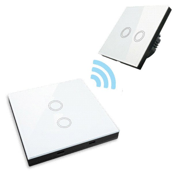EU Standard Smart Remote Control 2 Way Crystal Glass Panel, Wall Light Touch Screen Switch,White/Black/Gold wholesale