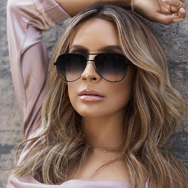 2019 Vintage Güneş Kadınlar Marka Tasarımcı Shades düz üst Kadın Sunglass Ayna Güneş Gözlükleri İçin Kadınlar 2018 zonnebril dames