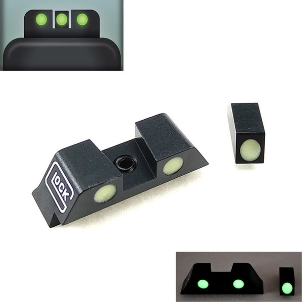 tactical hunting pistol handgun glow in the dark night sights front and rear sight set for g17,g19,g22,g23 tactical accessories