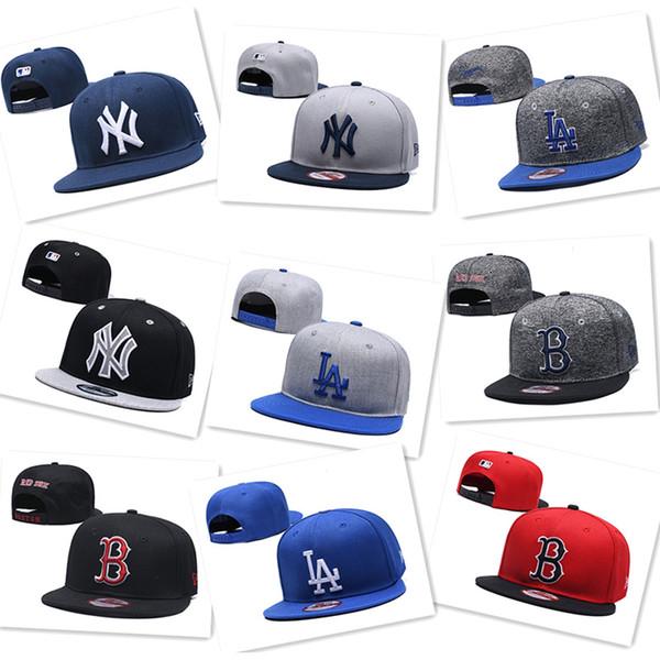 2019 Mens Womens beyzbol şapkası New York * Yankees Los Angeles * Dodgers Boston * Kırmızı Sox beyzbol Şapkaları Snapbacks Spor tasarımcısı Şapka Caps