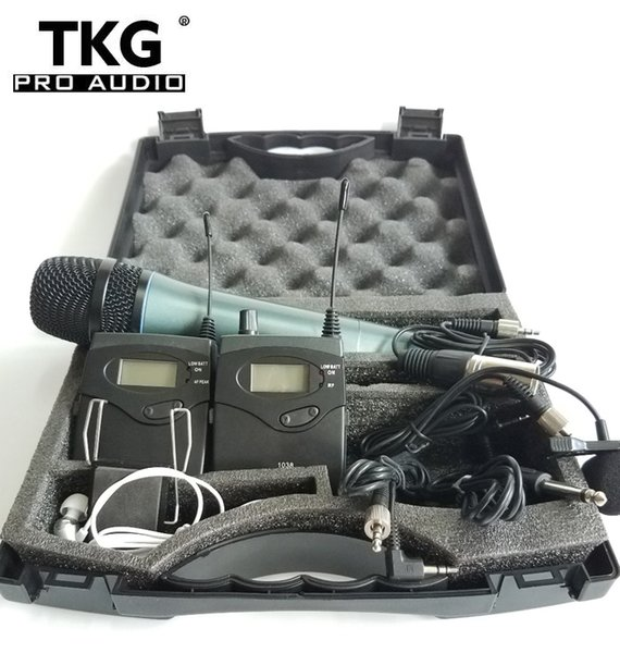 TKG Wireless tour guide system TKG1038H DSLR Camera Interview Recording 2 transmitter 1 receiver wireless monitor 740-771Mhz