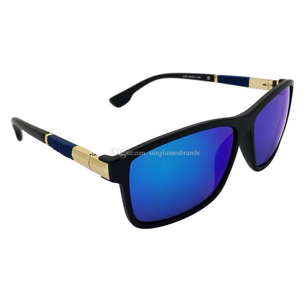 Kupnepo mulheres marca de luxo design óculos de sol clássico way black  frame azul farer polarizada 6b41a64188