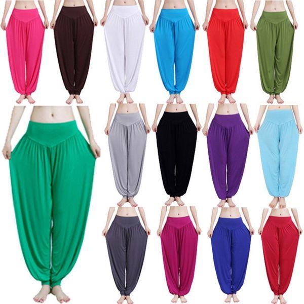 bcf9327f Женские штаны для йоги Женские лосины для йоги больших размеров  Разноцветные шаровары Танцы ТайЧи Полные штаны