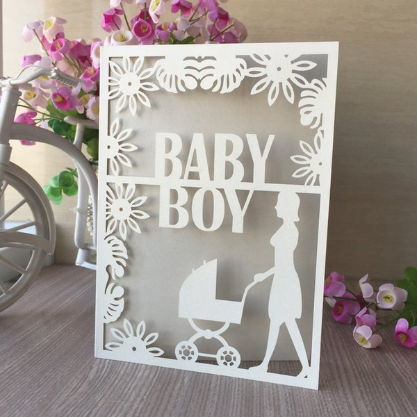 Hollow Laser Cut Wedding Invitation Cards Baby Boy Christening Baptism Invitations Card Mother S Day Gift Cards Design Your Own Wedding Invitation