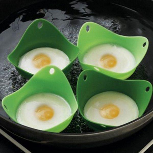 Silicona cazador furtivo del huevo de Cook Poach vainas de huevo Molde forma de cuenco anillos de silicona de huevo panqueque de cocina utensilios de cocina aparatos