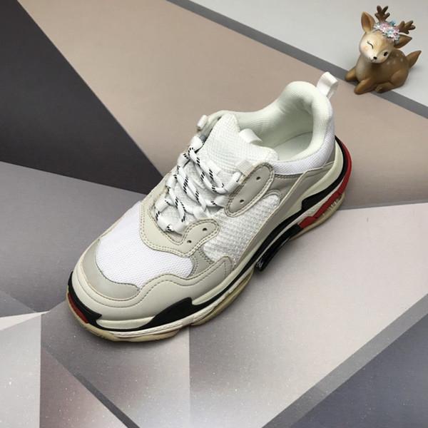 Paris 17FW Triple-S Walking Shoes Luxury Dad Shoes chaussures femme Triple S 17FW Sneakers Women Vintage Old Grandpa Trainer Outdoor l4