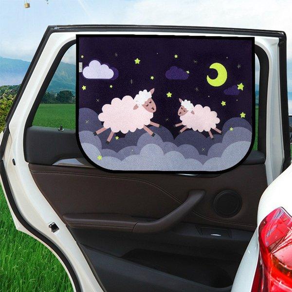 Универсальная автомобильная ВС Shade крышка Солнцезащитная Тентовый окна Зонт Обложка For Baby Дети Cute Cartoon Car Styling