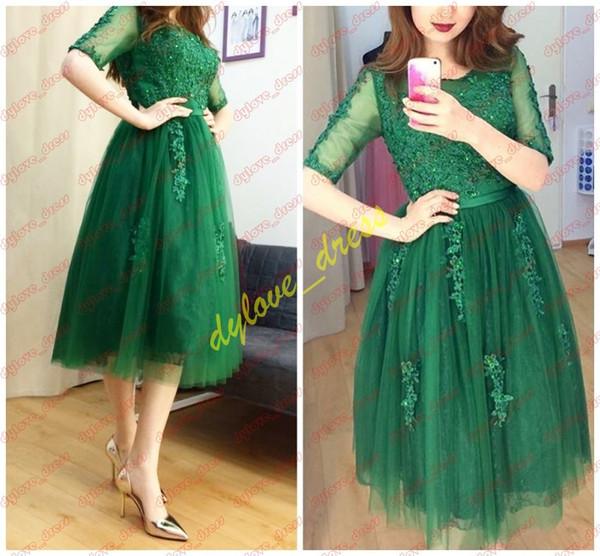 be3fbf0ff2b 2019 сексуальные вечерние платья зеленый арабский короткое вечернее платье  vestidos de фиеста черная девушка африканские платья